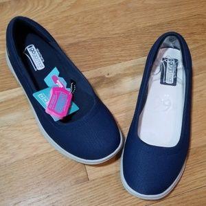 Skechers wide goga mat technology blue flats